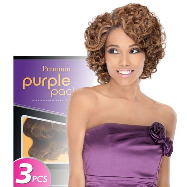 Outre 100 Human Hair Blend Weaving Premium Purple Pack