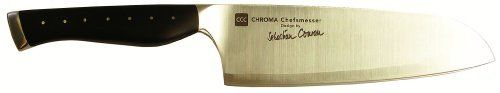 Chroma C05 7 Santoku Knife CCC Designed By Sebastian Conran by Chroma. $127.79. Design by Sebastian Conran. 3 Layers steel with very hard cutting edge of 59 rockwell. Handle is made from high quality synthetic material. CCC designed by Sebastian Conran are elegant and at the same time prove to be of high performance.Sebastian Conran consulted many cooks  and chef's working in the Conran Hotels around London England. Conran design are made of 3 layers of steel with very hard cutt...