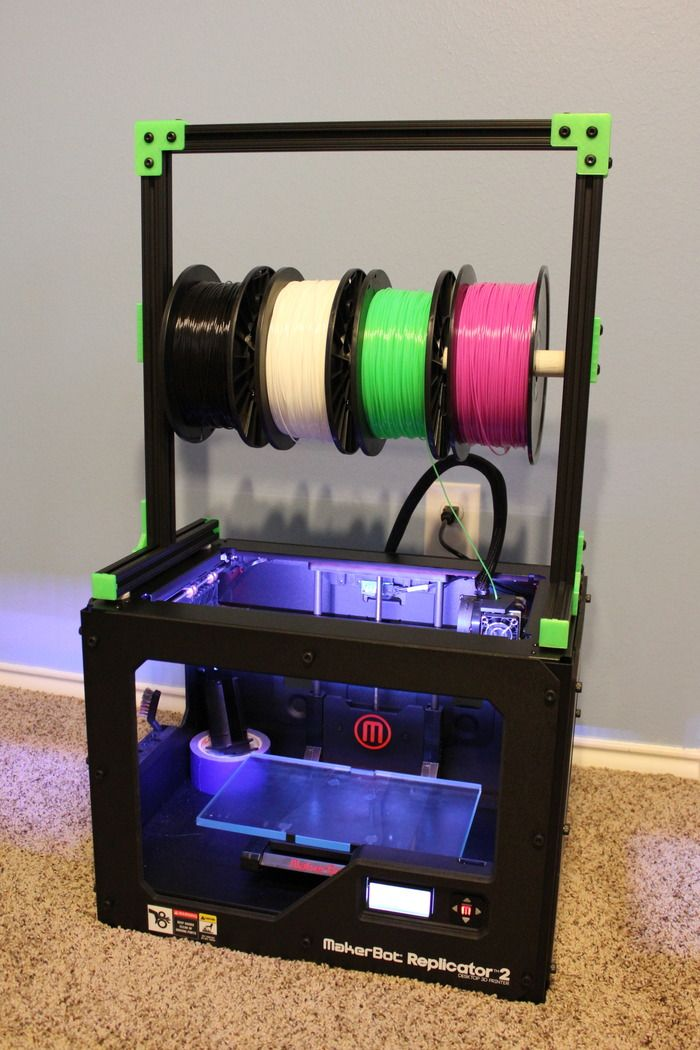 Multi Spool Filament Stand 3d printing diy, 3d printing