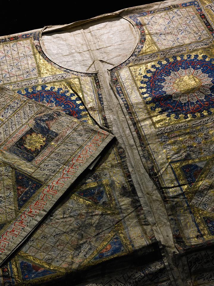 Ottoman talismanic shirt (tilsimli gömlek) Turkey, dated 991 AH/1583 AD (Sotheby's London -- Lot 315, Sept. 2015).