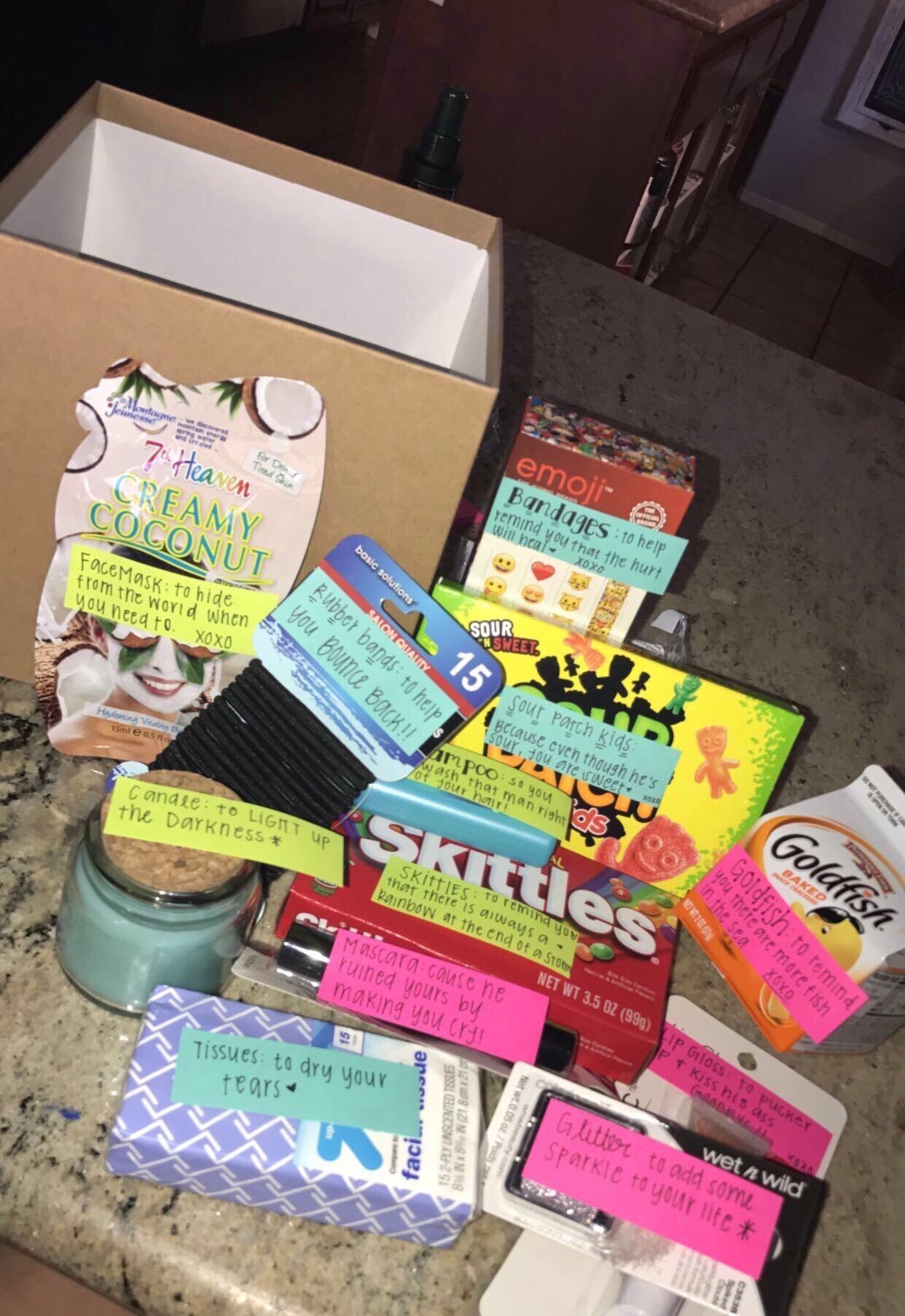 Best friend breakup box part 44 best friend bday gifts