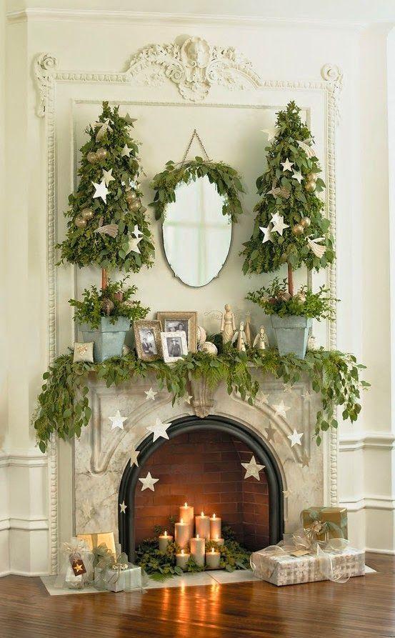 Beautiful Christmas Mantels - Christmas Decorating - - Top 10 Hottest Christmas Trends For 2018 Christmas Christmas