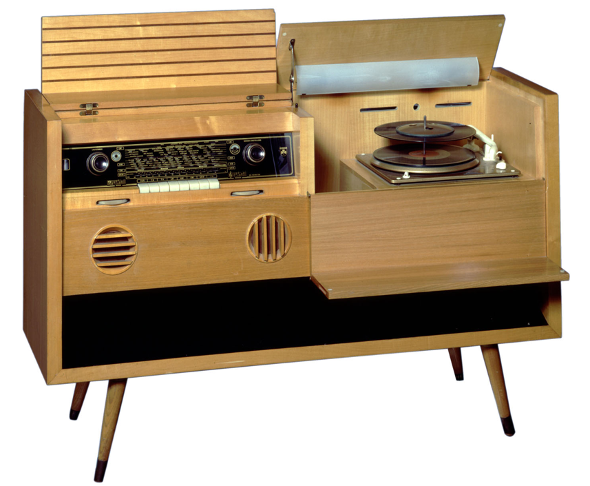 Meuble radio pick-up Grundig, 1953.