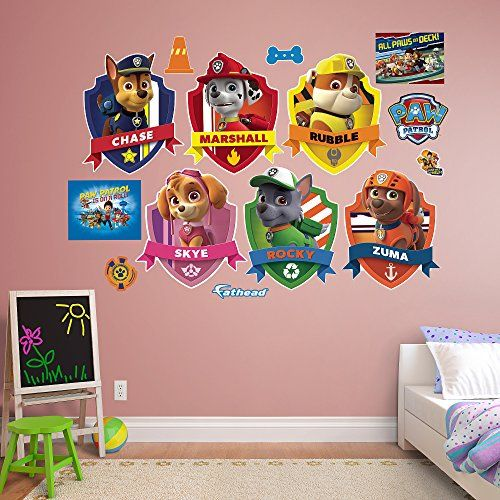 Fathead Paw Patrol Shields Collection Real Decals You Can Get