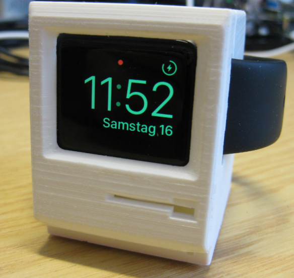 3D Printed Classic Mac Apple Watch Charging Station(画像あり)