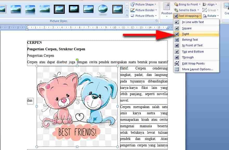 Insert Picture Word 2007   Tutor   Gambar dan Aplikasi