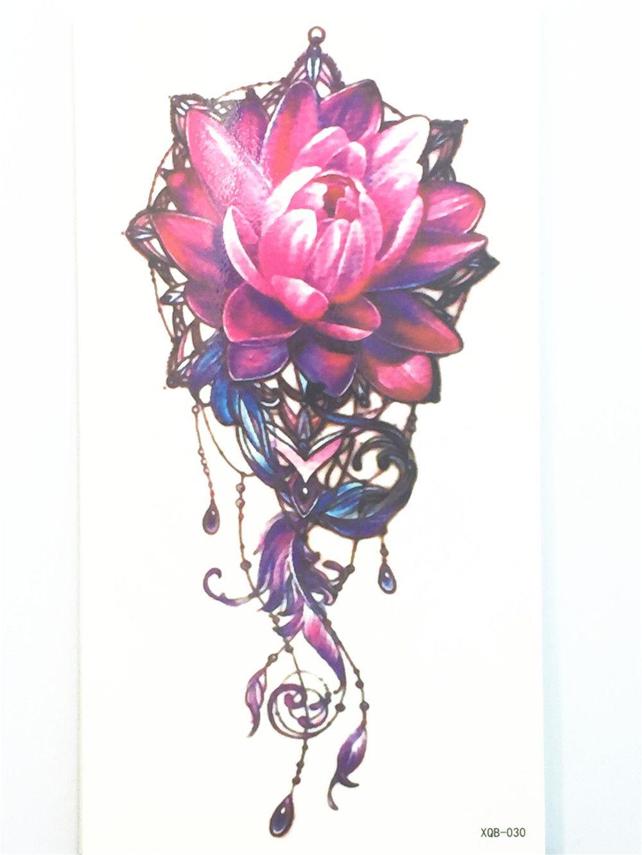 New 2017 sexy tatuagem lotus flower tattoo body art arm flash tattoo cheap lotus flower tattoos buy quality flower tattoo directly from china flash tattoo stickers suppliers new 2017 sexy tatuagem lotus flower tattoo body izmirmasajfo Gallery