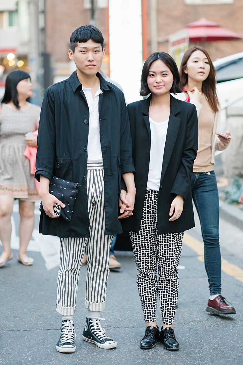korean couple look street style