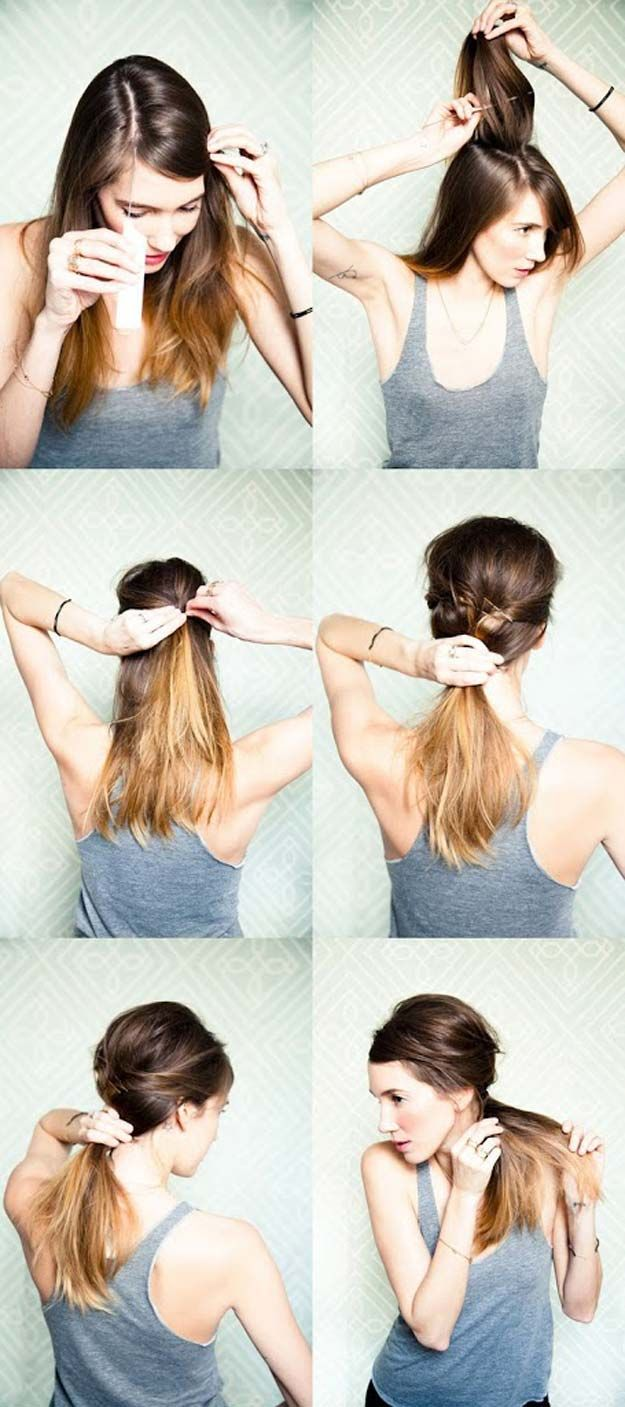 tips to instantly make your hair look thicker side ponytails