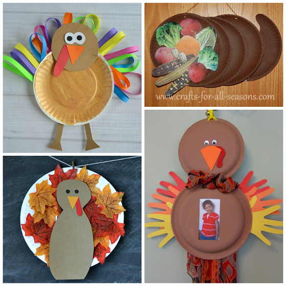 Here Are Fun Thanksgiving Paper Plate Crafts For Kids To Make Find Turkeys Pumpkin