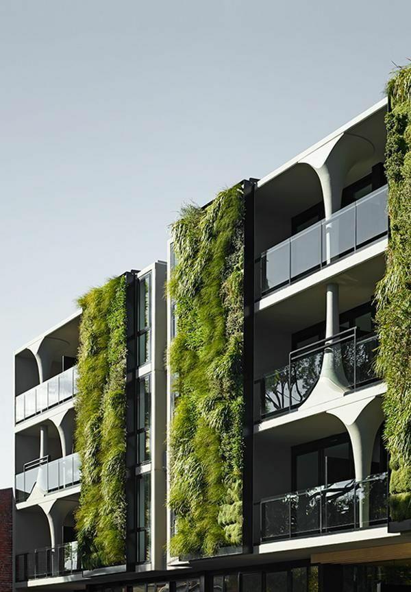 Moderne architektur h user vertikaler garten aussenfasade for Architektur garten