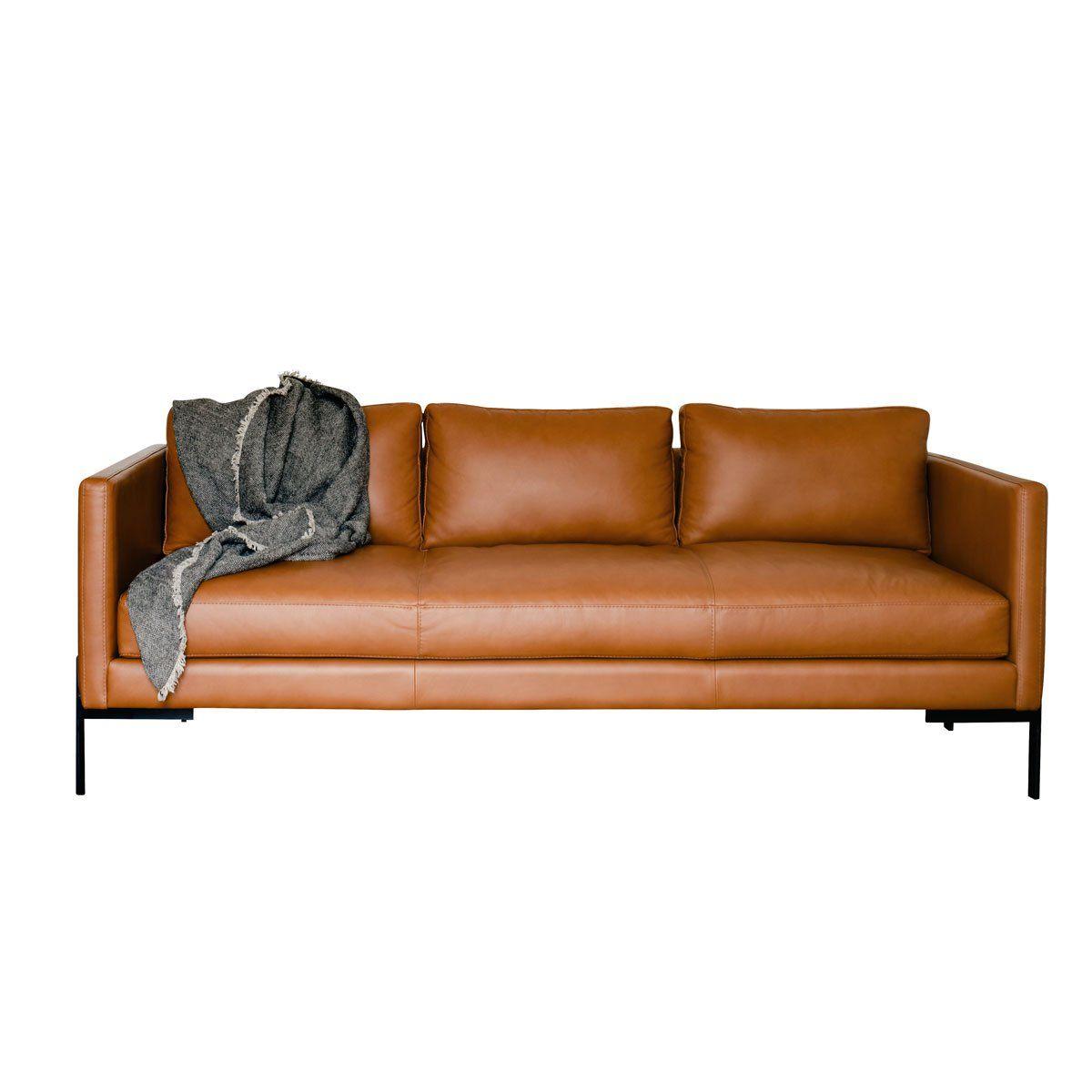 Truss Apartment Sofa Modern Leather Sofa Leather Sofa