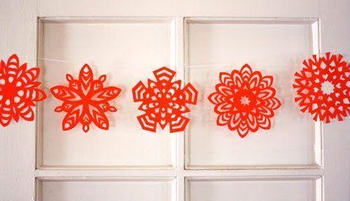 guirnalda roja de papel recortado mandil Pinterest Guirnaldas