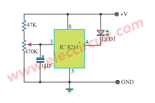 battery low voltage alarm indicator circuits electronicsbattery low voltage detector using ic 8211
