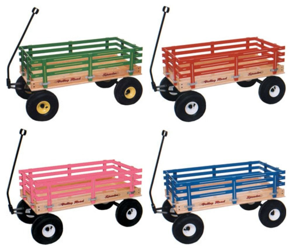 Large Wagon 40 Beach Cart In Choice Of Color Poly Or Wood Bed