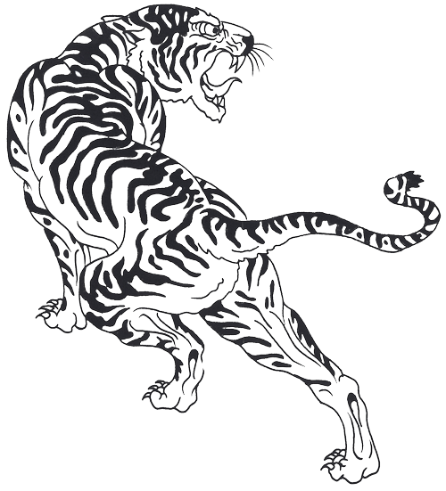 a1bedc0c30e10 Tigre Tattoo, Tiger Outline, Khmer Tattoo, Thai Tattoo, Tribal Tiger Tattoo,