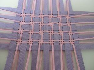 かご で作り方をマスター チェック編み 紙織り バスケット織り