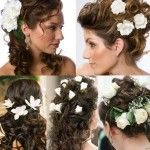 Wedding Hairstyle Side Style With Soft Curls And Bird Cage Veil