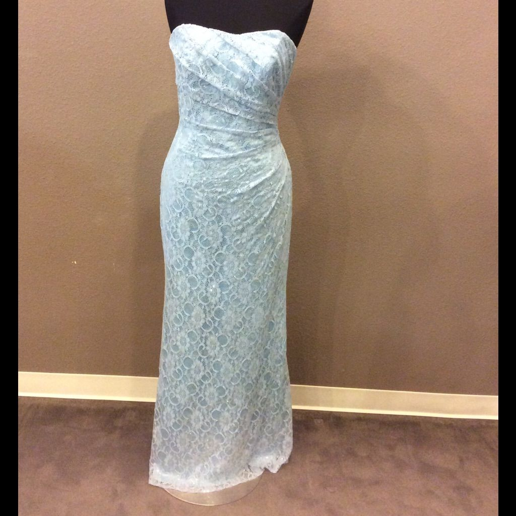 Long blue lace gown with sparkle detail products