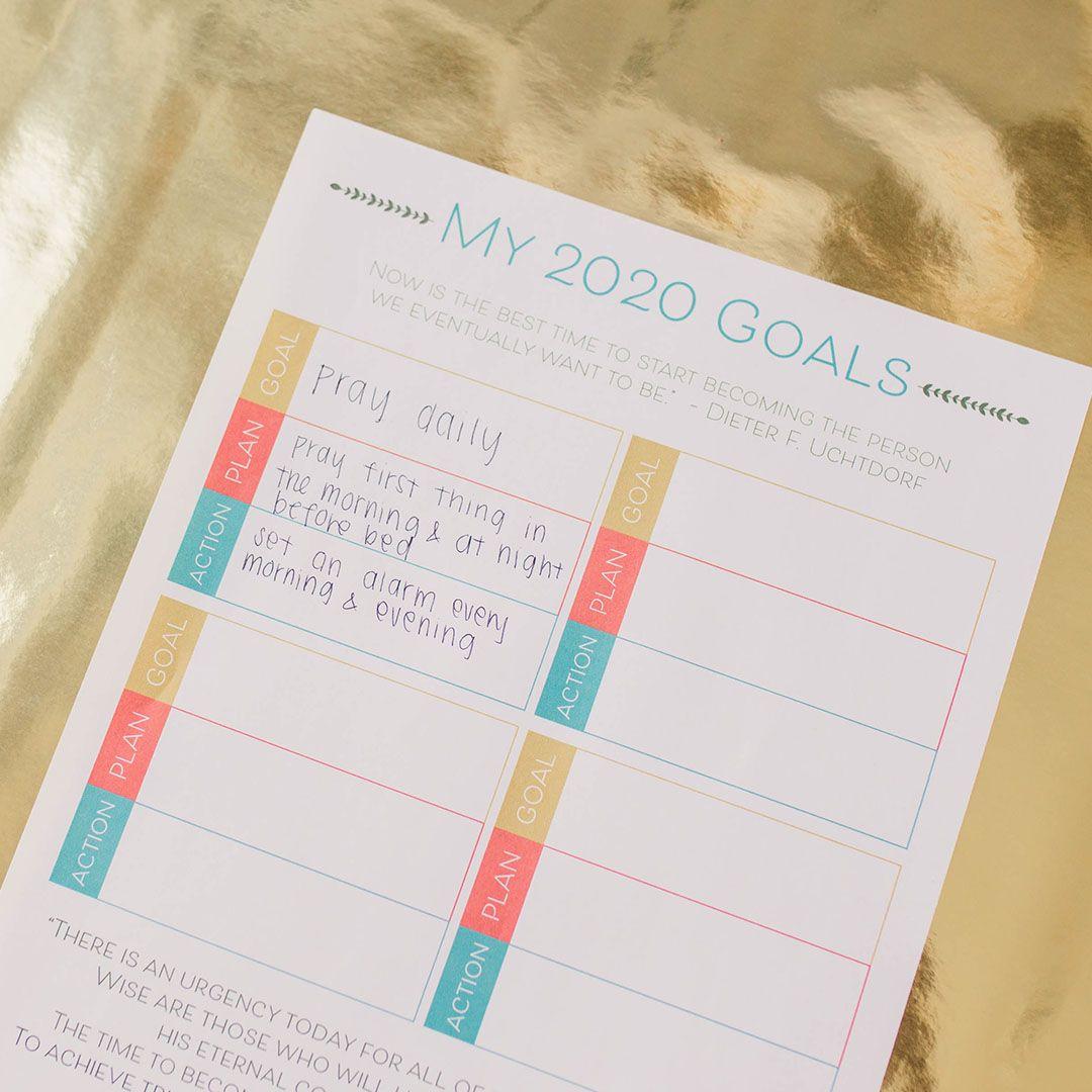 Free Lds Goal Setting Worksheet