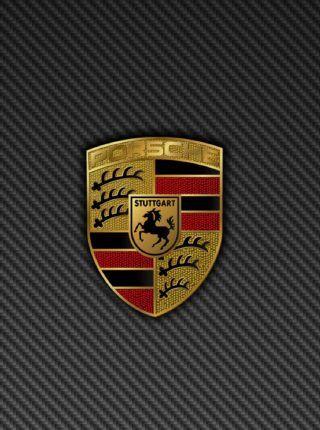 Car Logos Wallpapers For Iphone Porsche Logo Grey Background Iphone 6 Plus Hd Wallpaper