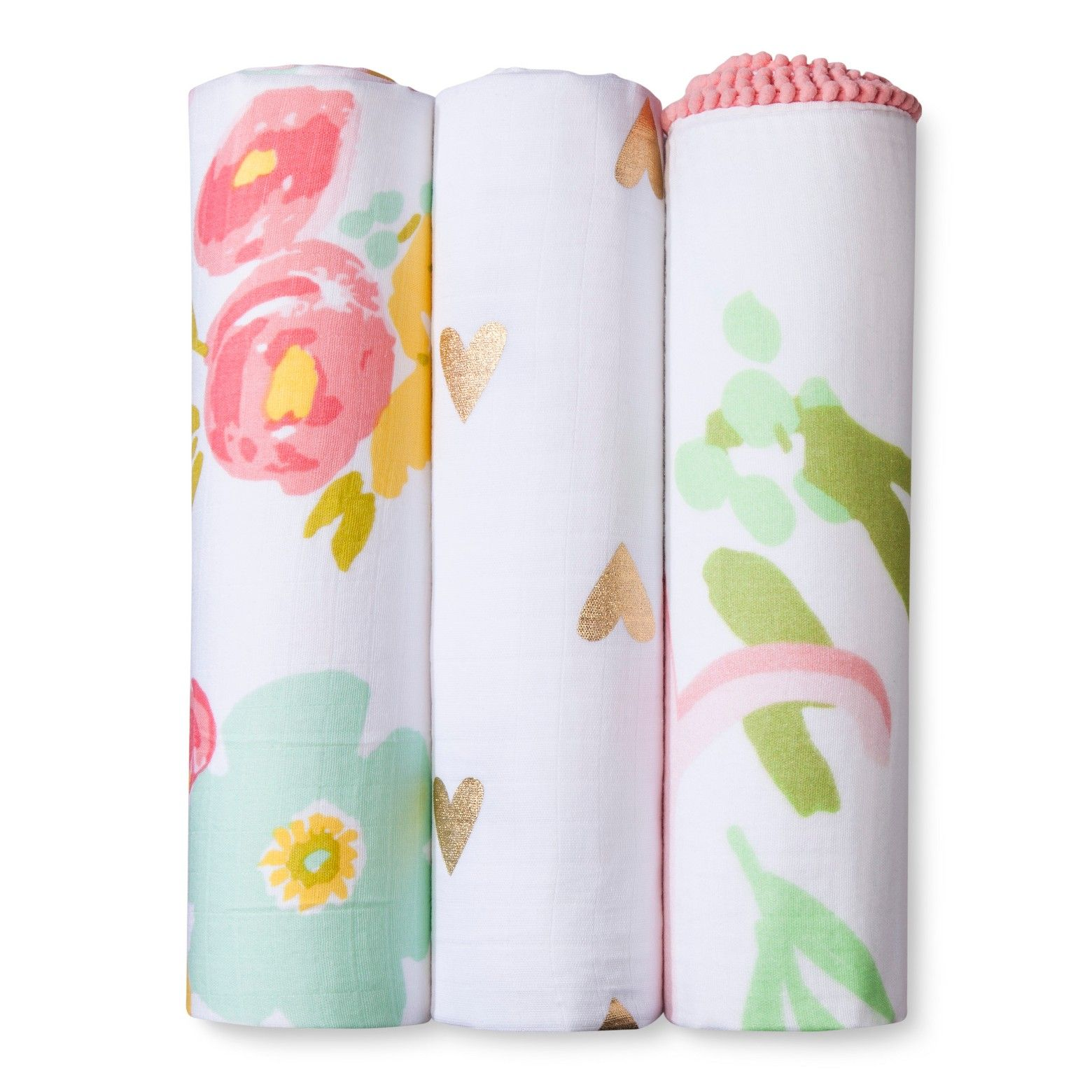 Swaddle Blankets Target Adorable Muslin Swaddle Blankets Floral 3Pk  Cloud Island™  Pink  Muslin Design Ideas