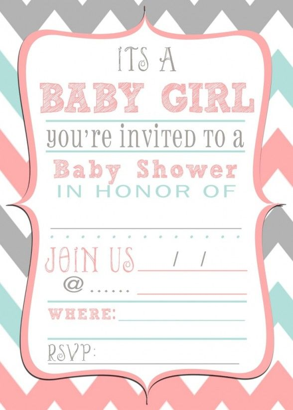 Baby Shower Invitations : Free Printable Baby Shower Invitations With  Colorful Border And Vintage Frame Complete