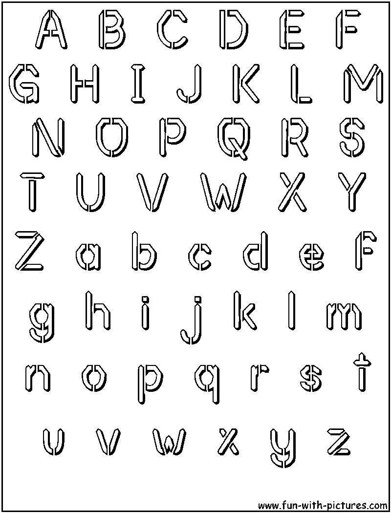 Bubble Letter Cut Outs  Free Alphabet Cutouts  Free Alphabet