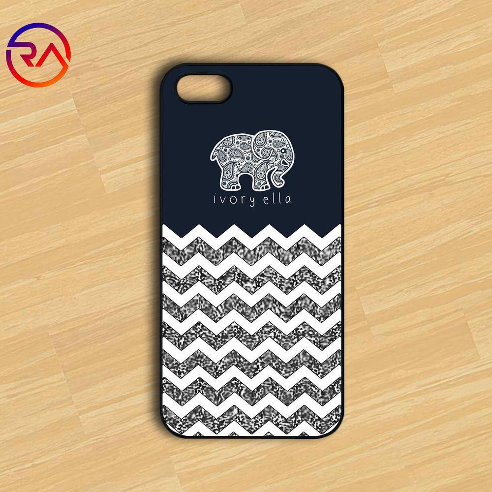 321df511f Ivory Ella White Chevron Case fit for iPhone 5 5s 5c 6 6plus Plastic Case