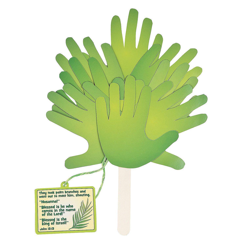 Oriental trading easter crafts - Palm Leaf Handprint Fan Craft Kit Orientaltrading Com