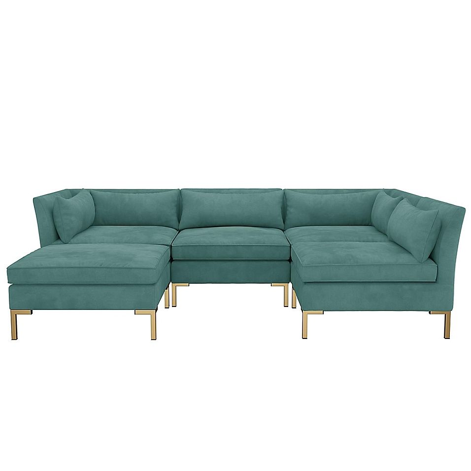 Doyer 4 Piece Microsuede Sectional Sofa