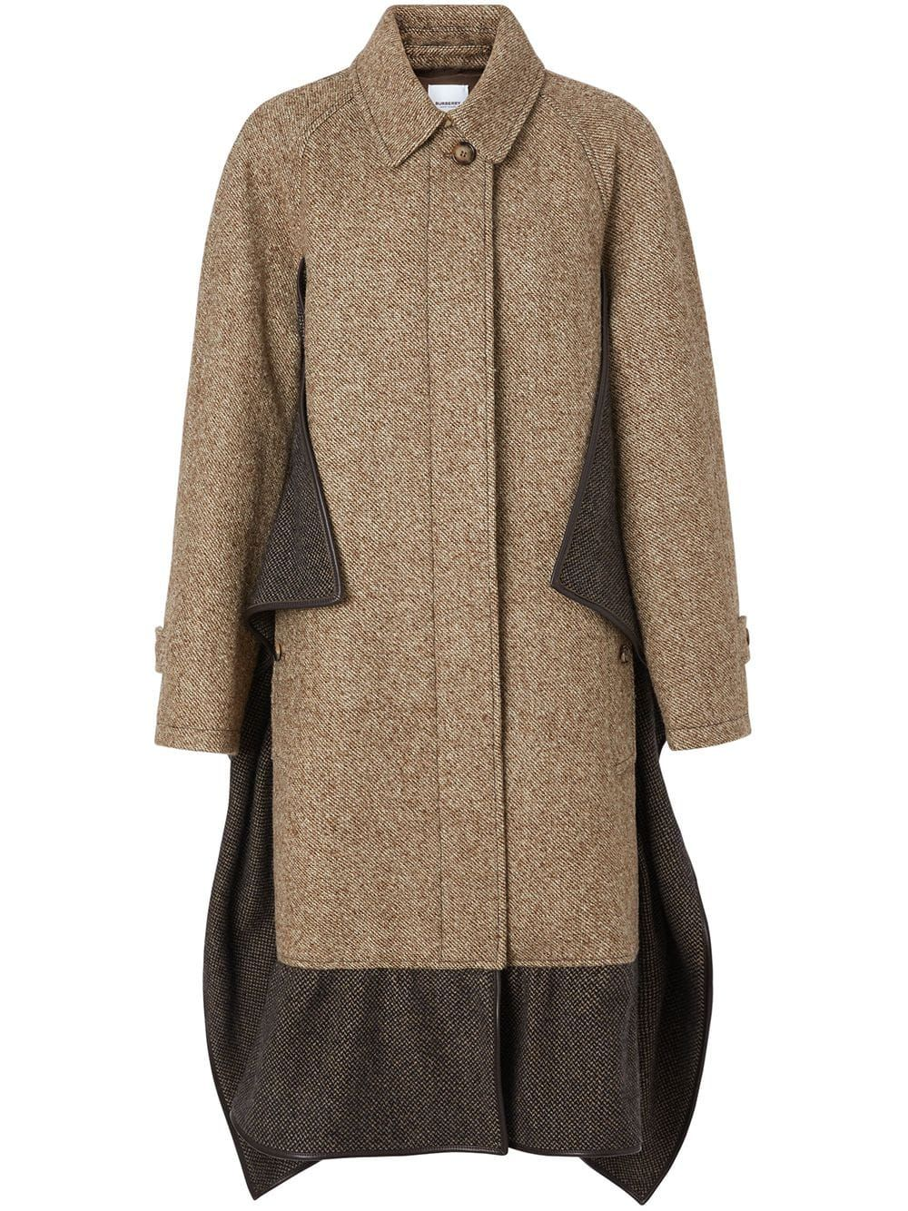 Photo of Burberry Scarf Detail Wool Mohair Tweed Car Coat
