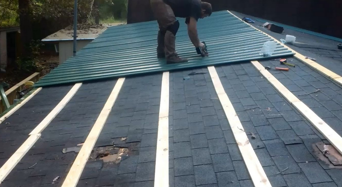 Pin By Gaetan Gagnon On Roofing Services Metal Roof Over Shingles Mobile Home Roof Roofing Diy