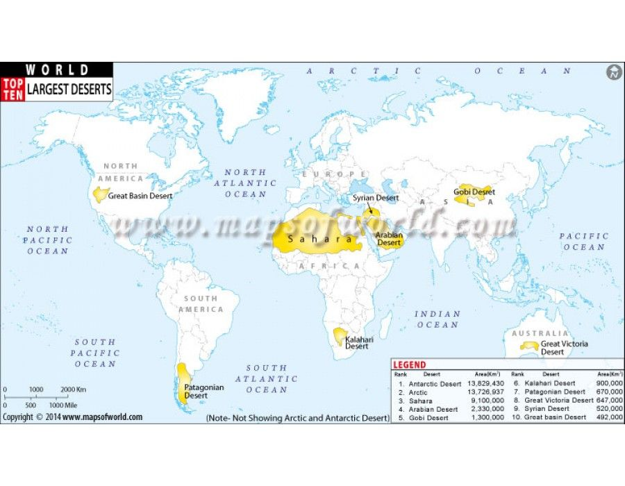 World map with top ten largest desert world map pinterest top ten largest deserts of world shown on the world map along with data buy this thematic world map in jpg ai eps and pdf vector format gumiabroncs Image collections