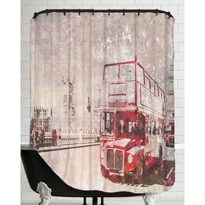 Americanflat City Art London Red Buses Ii Shower Curtain City