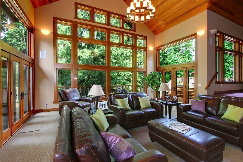 image result for sunken living room  living room home decor