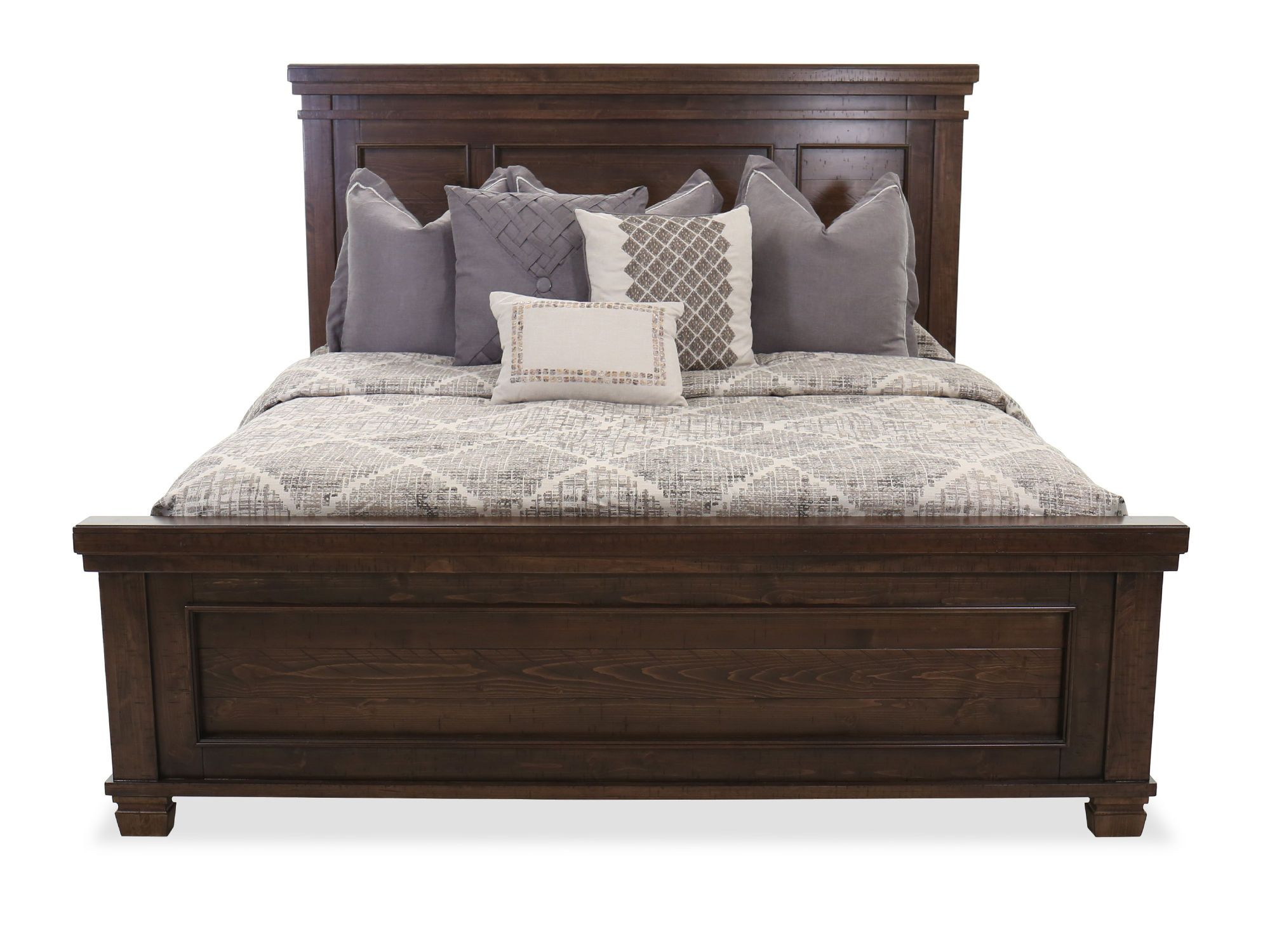 62'' Transitional Panel Bed in Brown Mathis Brothers