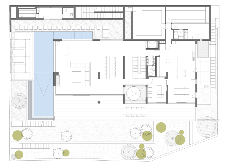 Gallery Of Villa 191 Isv Architects 16 Villa Plan Single Storey House Plans Architect