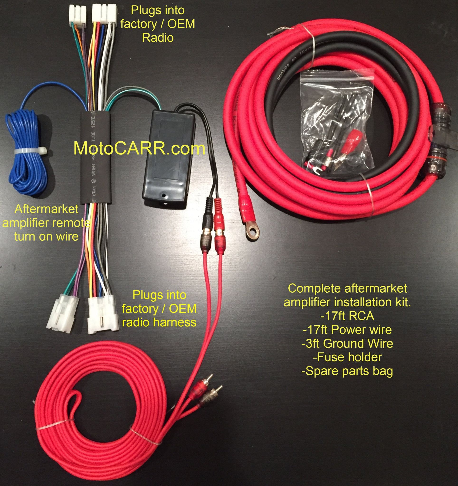 Toyota Factory Audio Amp Video Wire Harness Colors