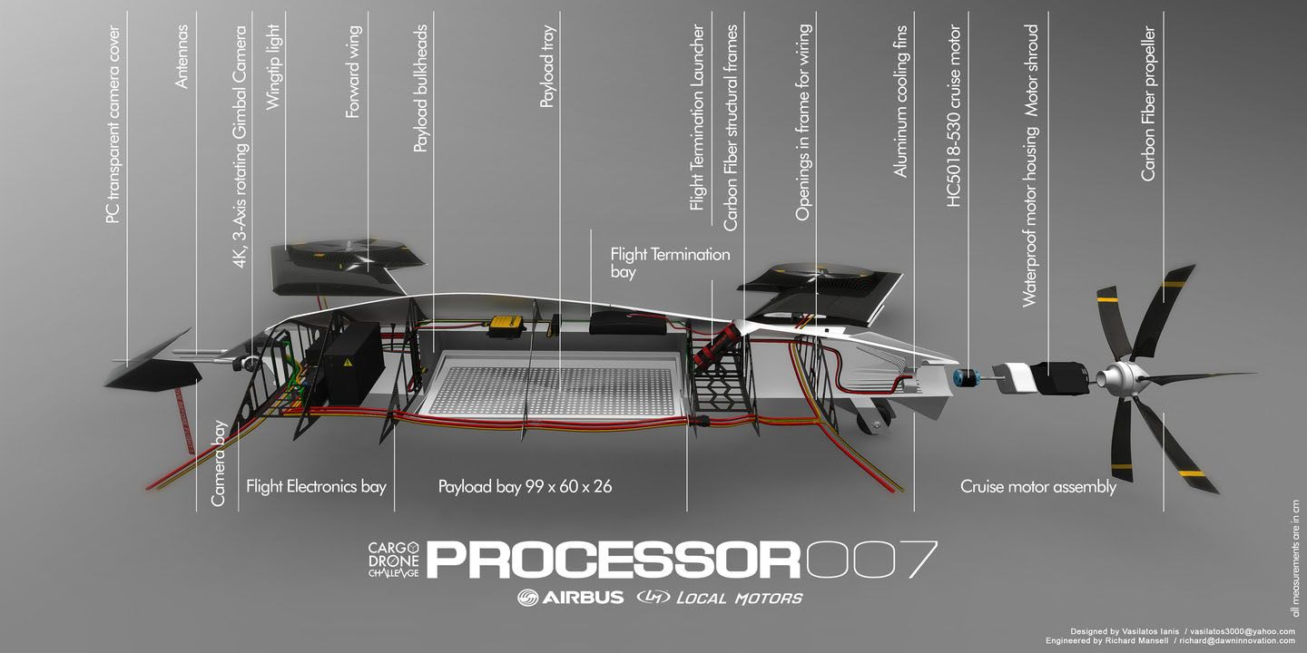 Processor 007 Concept Drone Aircraft By Vasilatos Ianis
