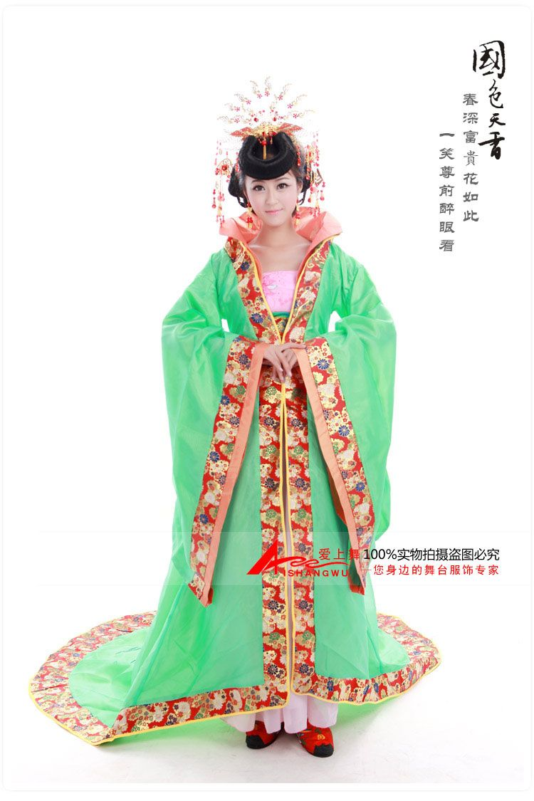 9d90e27da Chinese ancient clothing Costume tang dynasty train tang costume female  princess queen high stand collar-inChinese Folk Dance from Apparel & Accessories  on ...