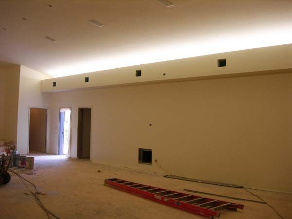 indirect lighting retro fit cove lighting with soffit box. Black Bedroom Furniture Sets. Home Design Ideas