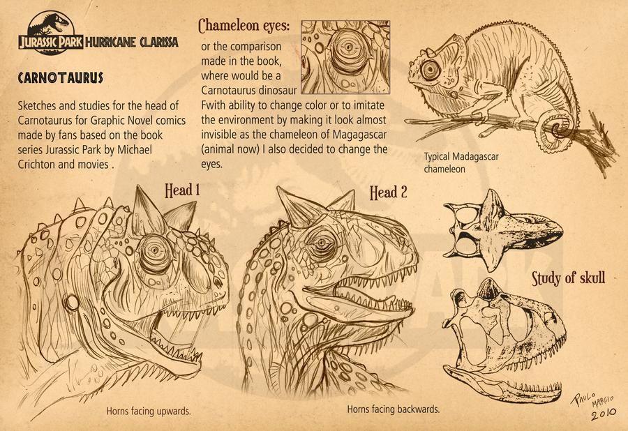 Carnotaurus Head Sketches By Pauloomarcio On Deviantart Jurassic Park Mundo Jurassico Animais Pre Historicos