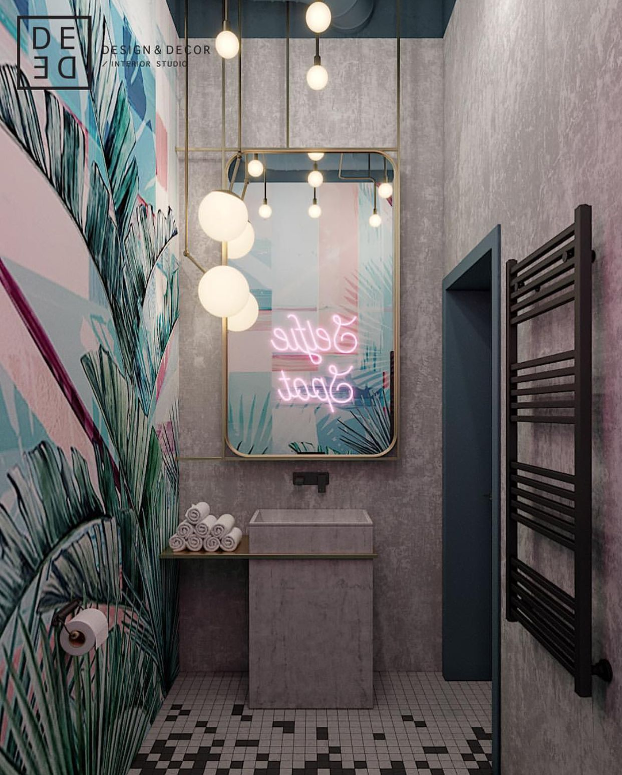 Spot Tbts Salle De Bain Bathroom Selfie Spot Behance In 2019 Home Decor Bathroom