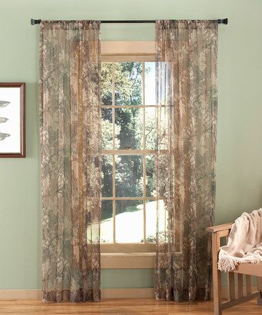 Camo Sheer Curtain Panel Zulily Panel Curtains Sheer Curtain Panels Curtains