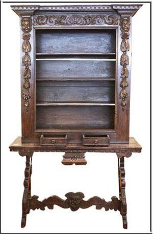 Vitrine in Spanish furniture style-The two most prominent ...
