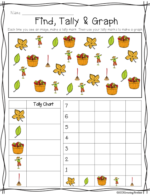 Fall Find Tally  Graph FREEBIE  Themes  Schemes Fall Leaves
