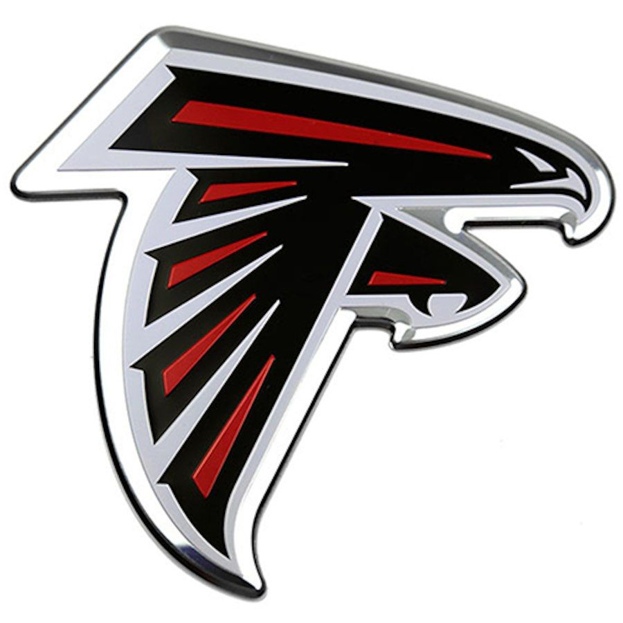 Atlanta Falcons Color Emblem 3 Car Team Decal Atlanta Falcons Atlanta Falcons Logo Atlanta Falcons Signs