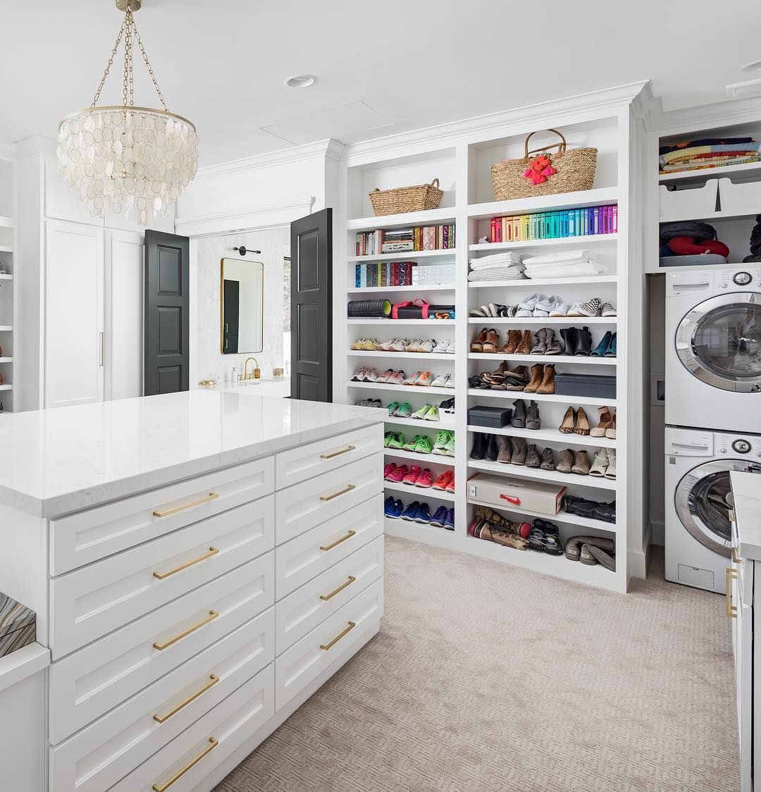 Brad Leavitt On Instagram Every Master Closet Needs Its Own Washer And Dryer As Well As A Mul Master Closet Laundry Room Closet Luxury Bathroom Master Baths