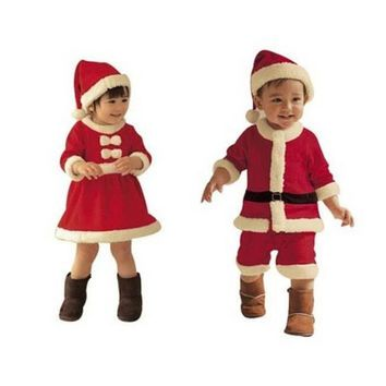 319af967e79c7 Christmas santa clothes Christmas Baby Boys Girls Red Rompers Girls ...
